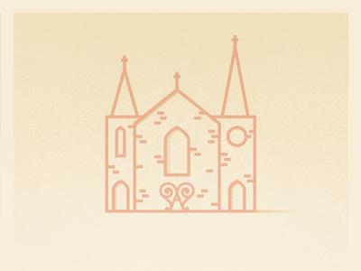 Wedding Illustration illustration a love heart church wedding