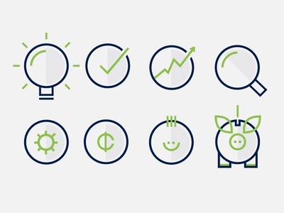 Iconography 03 finance circles banking financial icons illustration iconography