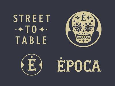 Época Brand Elements epoca identity design restaurant monogram identity logo design logo brand design branding