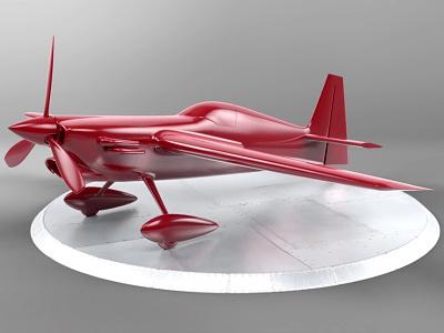 Extra 300 photoshop renderman render rendering 3d extra plane nurbs model modeling maya