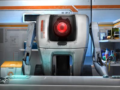 M12 mental ray render rendering 3d robot model modeling maya