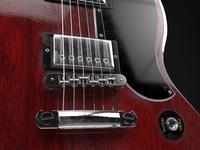 Gibson SG maya model rock hard rock guitar usa gibson music 3d rendering render renderman