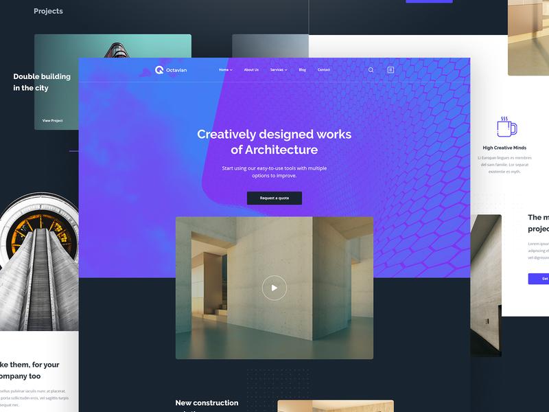 Homepage for Architecture architechture architectural architecture branding design homepage concept agency website site design web design