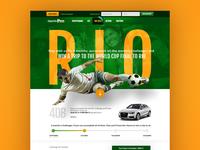 RioSoccer - landing page design