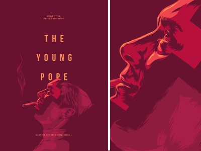 The Young Pope vector poster series film movie illustration pope young