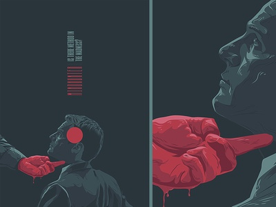 Mindhunter vector illustration poster series movies