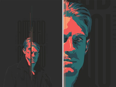 Altered Carbon - poster typo face vector ai series alteredcarbon illustration