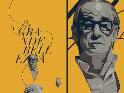 The Great Beauty /  La grande bellezza face ai character illustration typography cinema film movie