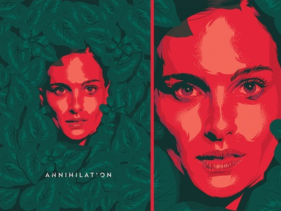 Annihilation face vector poster ai illusztration cinema film movie annihilation