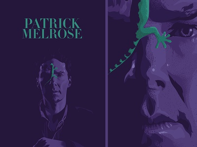 Patric Melrose brush illustration face vector poster ai cinema film movie