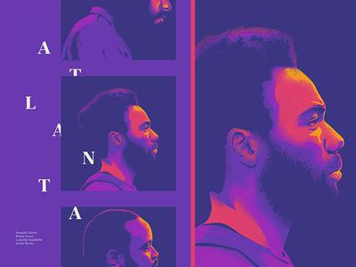 Atlanta face vector poster ai illusztration cinema film movie