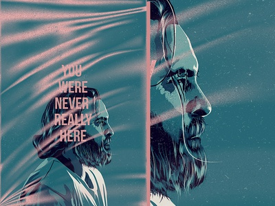 You Were Never Really Here face glitch film typography movie poster illustration