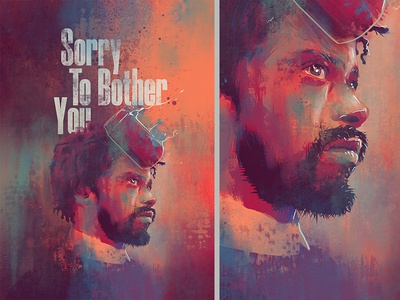 Sorry To Bother You cinema face glitch design film poster movie illustration