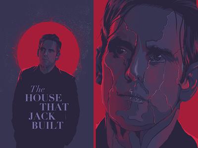 The House That Jack Bulit face glitch design film poster movie illustration