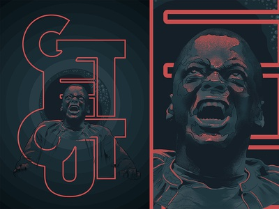 Get Out procreate app movie photoshop poster typography color cinema film horror movie illustration face procreate horror jordanpeele