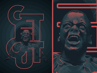 Get Out procreate app movie photoshop poster typography color cinema film horror movie illustration face procreate horror jordanpeele