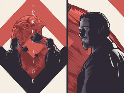 The Prestige typography illustration design film poster movie