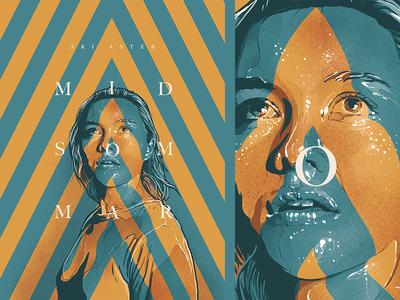 midsommar procreate typography cinema face design film movie poster illustration