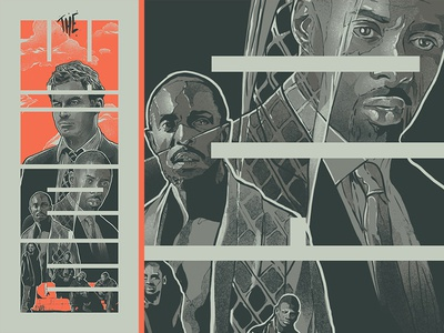 the wire typography cinema face design film poster movie illustration
