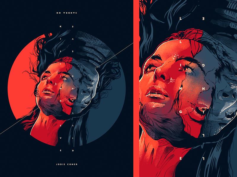 killing eve typography cinema face design film poster movie illustration