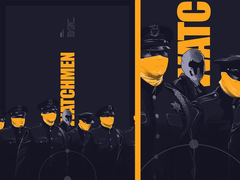 warchmen typography face cinema film movie poster illustration