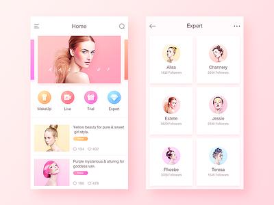 Beauty App purple yellow sweet beauty followers follow expert trial live app make up makeup