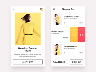E-Commerce style yellow ux ui shop product man e-commerce ecommerce clothing categories campaign
