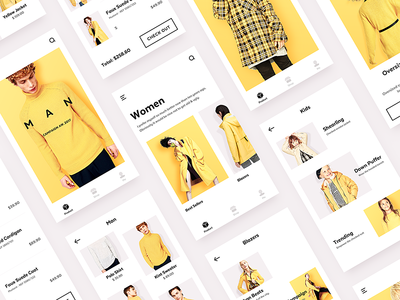 E-Commerce for All yellow ux ui style shop product man e-commerce ecommerce clothing categories campaign