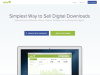 Sellfy landing page redesign