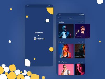 Festful App Dark Mode Variations hirepixels idea startup freelance minimalistic human interface guidelines mockups clean darkmode whitespace app design graphic design ux ui
