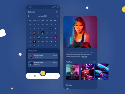 Viewing scheduled events. Calendar view. Festful. freelance manage systems consultancy business startup party schedule dj freelancers events minimal native ios minimalistic clean design app festful ui