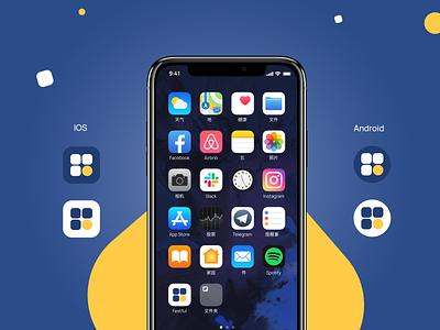 Festful app icon. iOS & Android. ondemand designer bold ehtisham dribbble freebie wallet blockchain crypto events freelancers hirepixels ux ui minimal clean design appicon