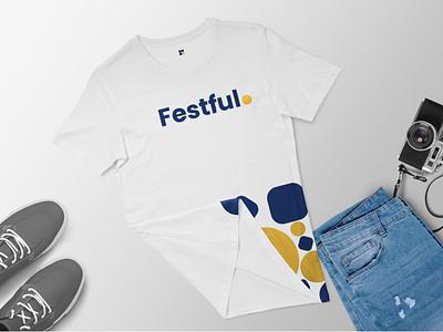 Festful Swags ui graphic design branding logo animation remote designer freelance ehtisham hirepixels identity brands flat white clean apparel minimal shirts tees swags