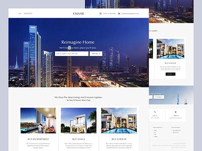 Emaar web redesign from my 2019 work creatives ux ui llanding webdesign apartments villas property realestate emaar