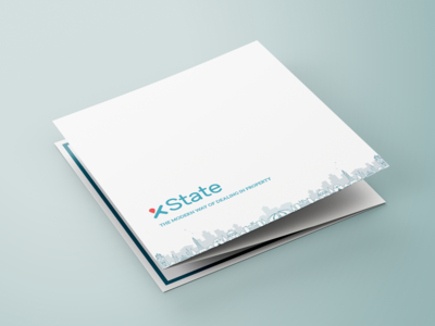 Minimalistic Cover for Xstate - Real Estate Company Leaflet