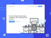 HireNinja Landing Page Concept