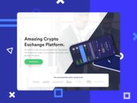 Crypto App Website Landing Page