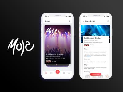 Local Events Moja App Design
