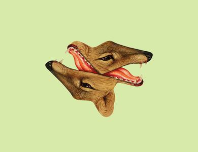 Anger / \ Enojo photoshop illustration synthesis art artwork collageart collage beast animal symmetry