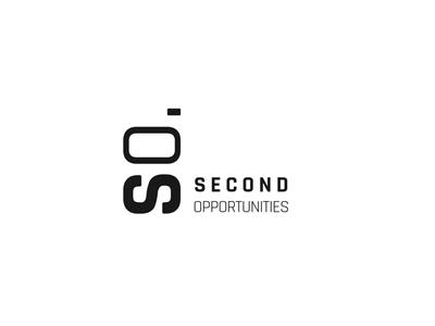 SO. Second Opportunities simple font typography minimalist black blackandwhite typo branding logo
