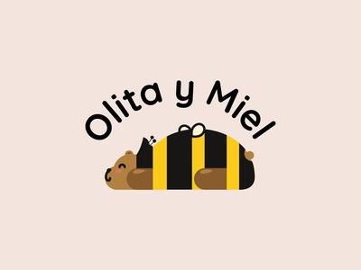 Olita y Miel baby cute lovely suit custom bear raw wool kids toys bee