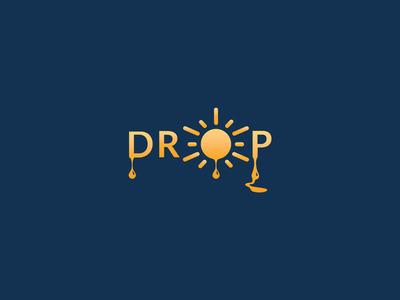 Drop of Sunshine california light art sunset sun sunshine drop logo cannabis