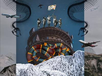 Odyssey digital art collage you snake plane cover photo illustration book story odyssey