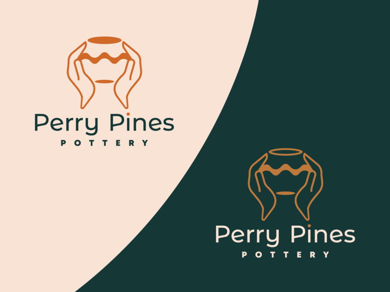 Pottery Epiphany synthesis minimalist logotype logo design potter elegant high end handmade waves hands typo brand identity brand logo ceramics pottery