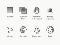 Manual Exposure icons