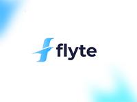 Flyte f fly logo bird