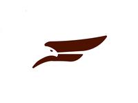Falcon F falcon eagle wings bird logo