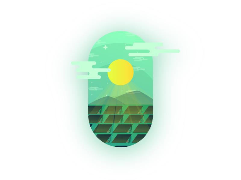SOLAR PANELS - GREEN ENERGY oval green sun panel solar