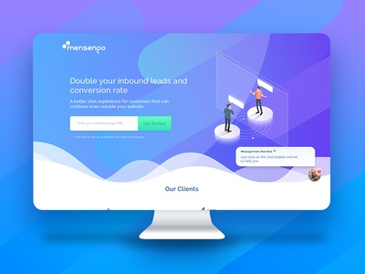 Landing page under construction