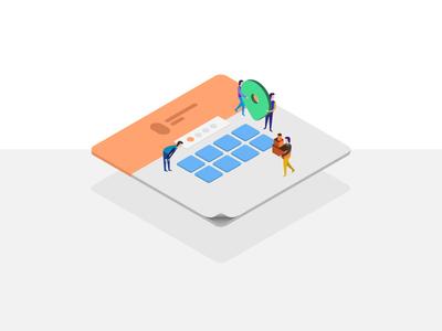 Team- Isometric Illustration